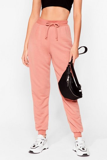 Dusty rose Don't Run Your Mouth High-Waisted Joggers