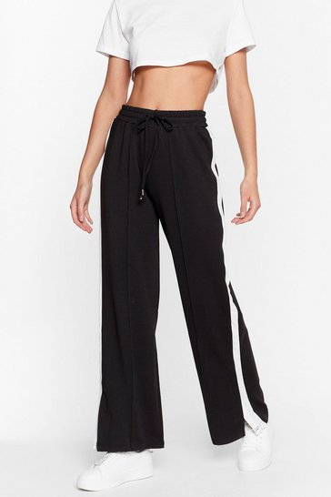 Black Just Our Stripe Relaxed Jogger Pants