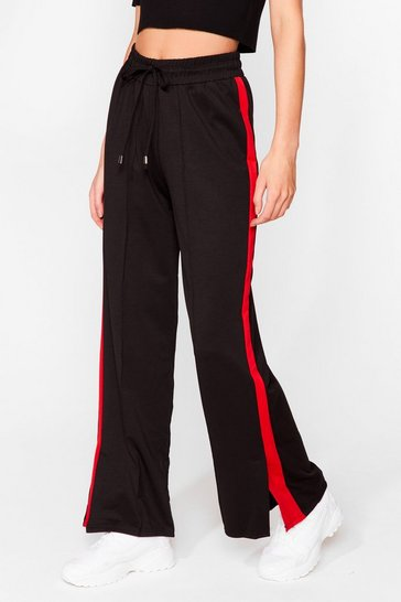 Red Just Our Stripe Relaxed Track Pants