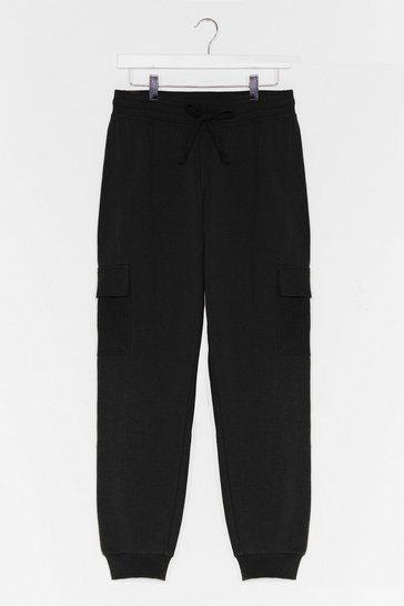 Black Utilize Your Skills High-Waisted Joggers