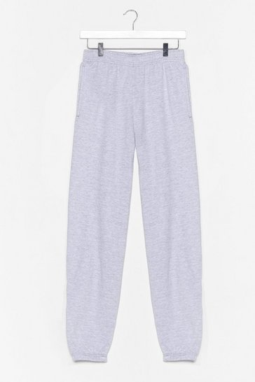 Grey marl Jog the Limelight Stretch Joggers