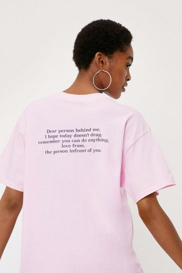 Pink Dear Person Short Sleeve Graphic T-Shirt