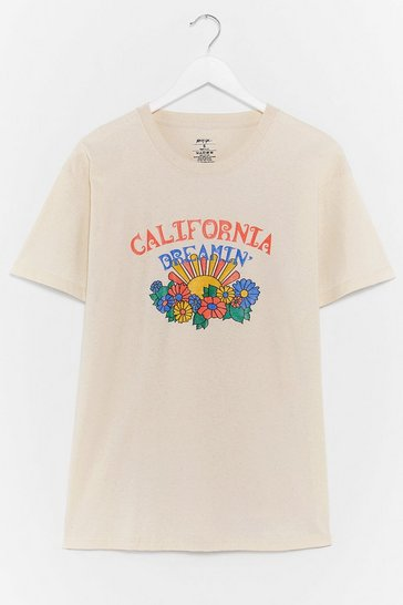 California Dreamin' Relaxed Graphic Tee, Natural