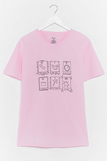 Pink It's in the Cards Tarot Graphic Tee