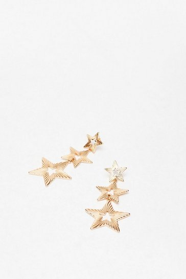 Gold Get It Star-ted Drop Earrings