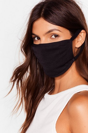Black Soft Fashion Face Mask