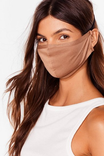 Camel All Mouth Fashion Face Mask
