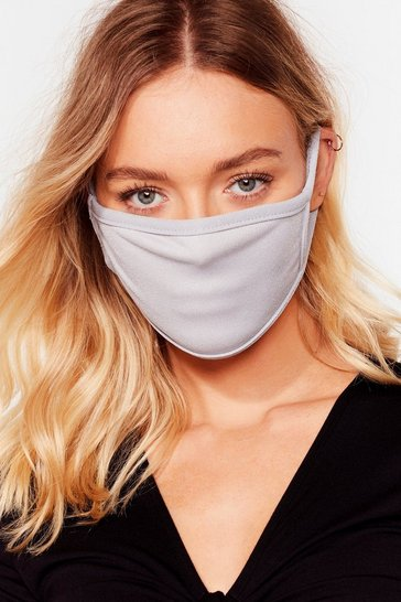 Grey All Mouth Fashion Face Mask