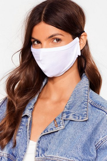 White All Mouth Fashion Face Mask