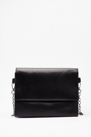 Black WANT Do What You're Fold Crossbody Bag