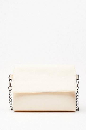 Off white WANT Do What You're Fold Crossbody Bag