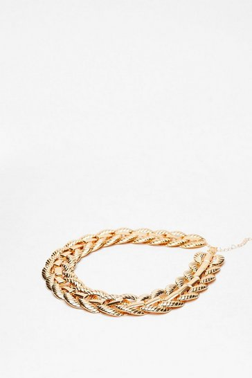 Gold Go Big Chunky Chain Necklace