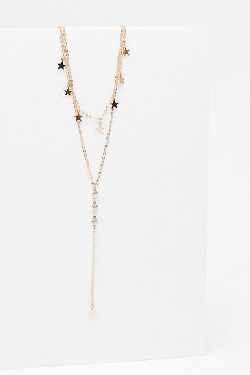 Gold Dainty Star Double Layer Necklace