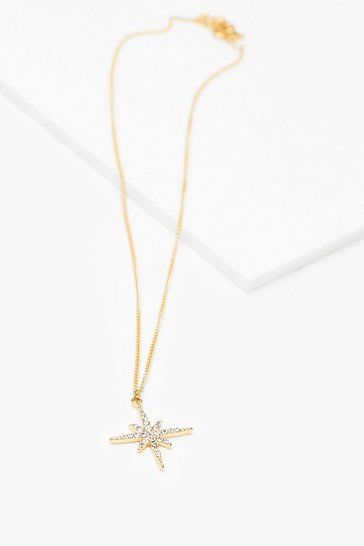 Gold My Lucky Stars Dainty Charm Necklace