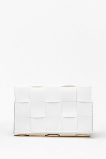 White WANT We've Woven You Crossbody Bag