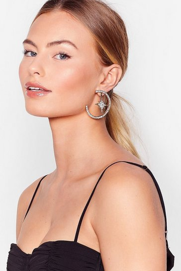 Gold Star-t of Something Diamante Drop Earrings