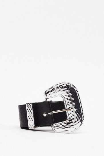 Black Sunday West Faux Leather Belt