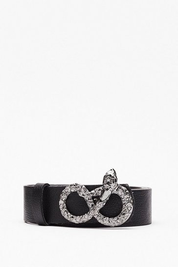 Black Snake Your Move Faux Leather Belt