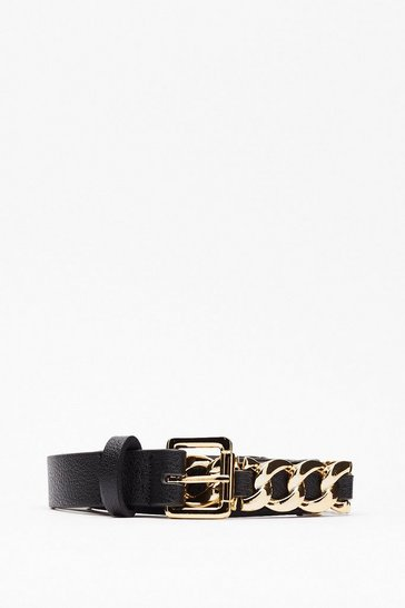 Black Chain Links Belt