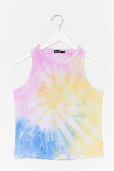 Yellow Kind is Cool Tie Dye Tank Top