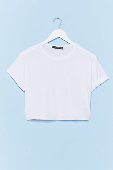 White Tee Right Through 'Em Cropped Tee