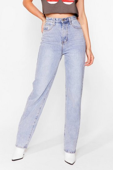 Light blue Like Straight Away High-Waisted Jeans