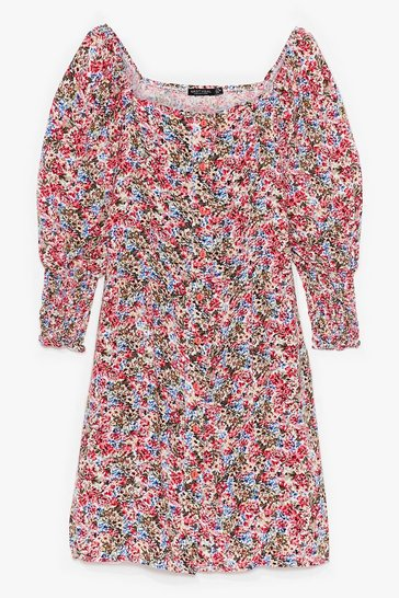 Pink That's Amore Floral Mini Dress