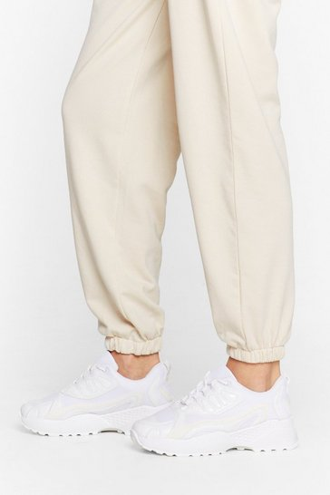 White Give It Your Mesh Shot Chunky Sneakers