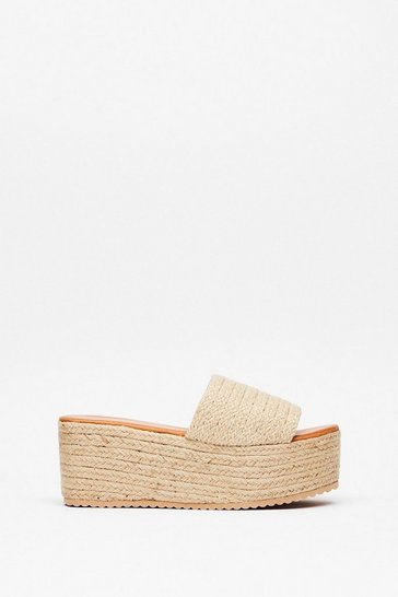 You're a Natural Woven Platform Sandals