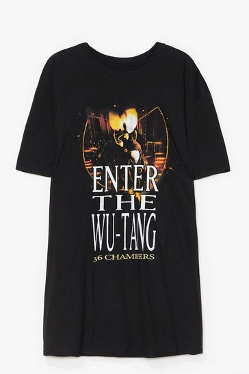 Black Wu-Tang Clan Graphic Band Tee