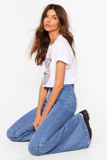 Washed black Super Trouper High-Waisted Flare Jeans