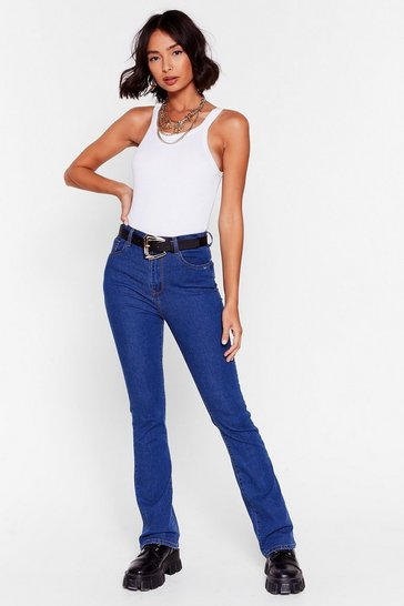 Get Flare Now Mid-Rise Skinny Jeans, Indigo