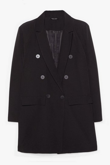 Black The Bigger the Better Oversized Blazer
