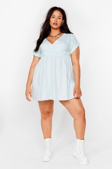 Sage Plus Size Short Sleeve Smock Dress