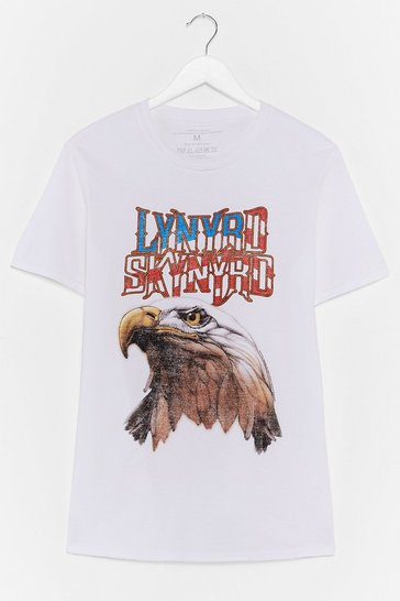 White Free As a Bird Graphic Band Tee