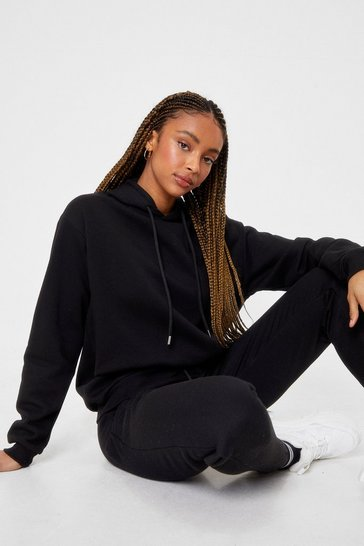 Black Hoodie And Slouchy Sweatpants Set