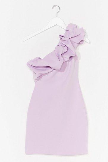 Lilac One is the Magic Number Ruffle Mini Dress