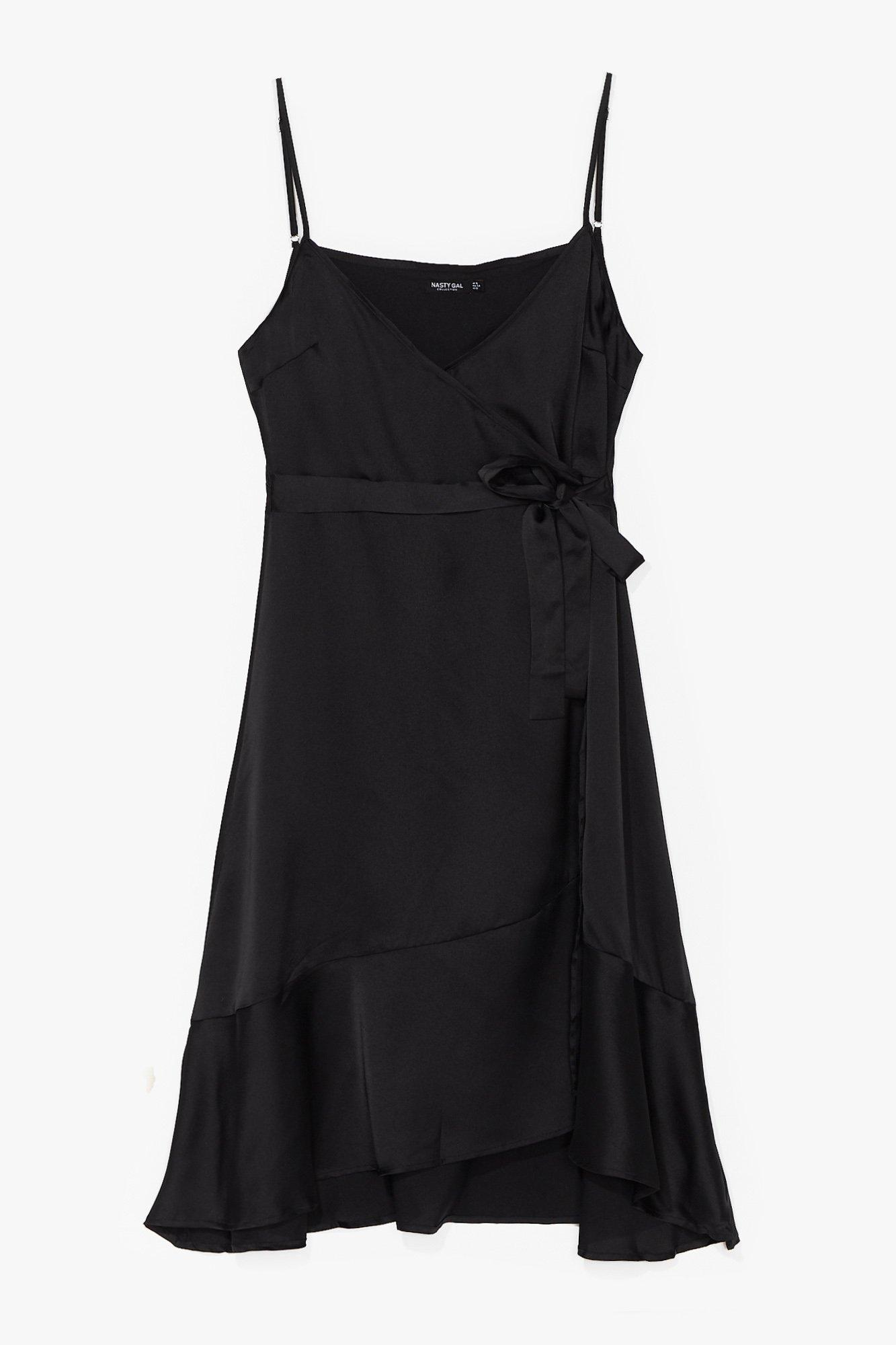 Come Alive in Night Tie Plus Wrap Dress 6