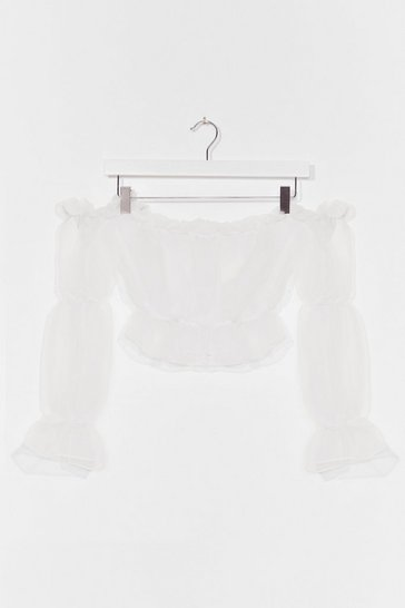 White You're So Transparent Off-the-Shoulder Top