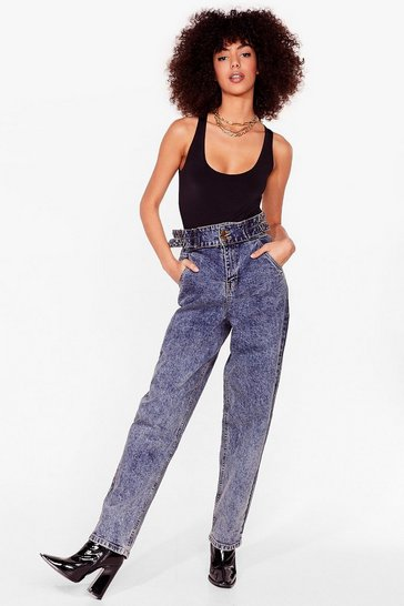 Vintage blue Wash Got into You High-Waisted Mom Jeans