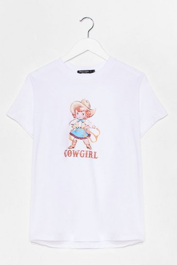 White Cowgirl Graphic Tee