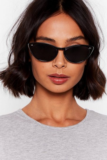 Black See Cat-Eye to Cat-Eye Tinted Sunglasses