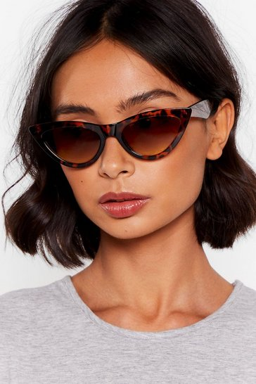 Brown You Tort Wrong Cat-Eye Sunglasses
