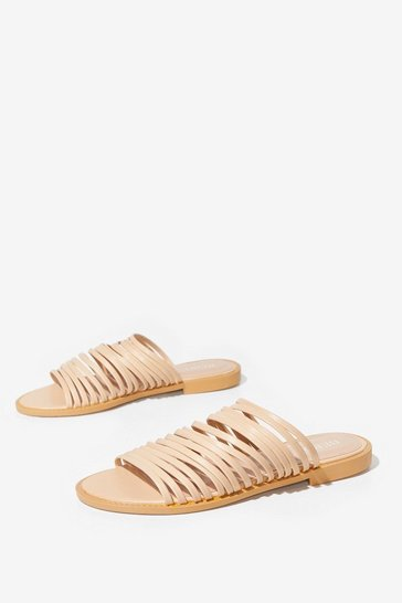 Nude Flat's How We Like It Strappy Faux Leather Sandals