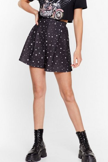 Black Outer Space High-Waisted Star Shorts