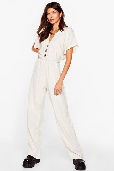 Stone One Piece is All It Takes Linen Jumpsuit