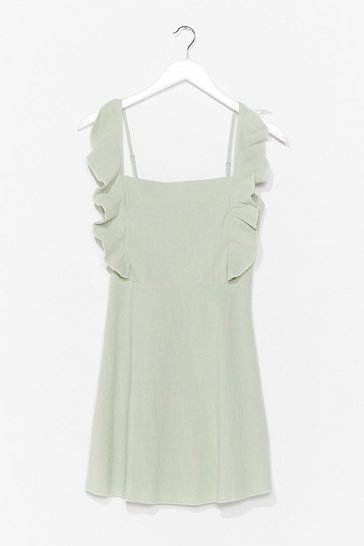 Sage Live for the Frill Ruffle Mini Dress