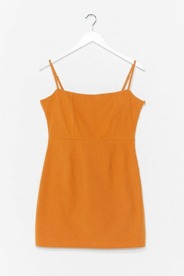 Turmeric One Mini Babe Square Neck Dress