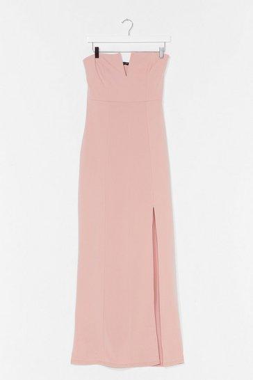 Blush What's It Gonna V Slit Maxi Dress