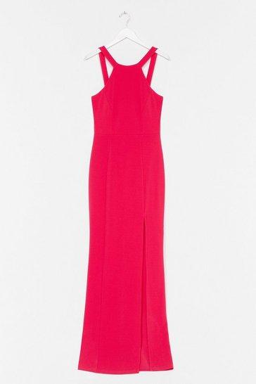 Hot pink Final Lap Racer Maxi Dress